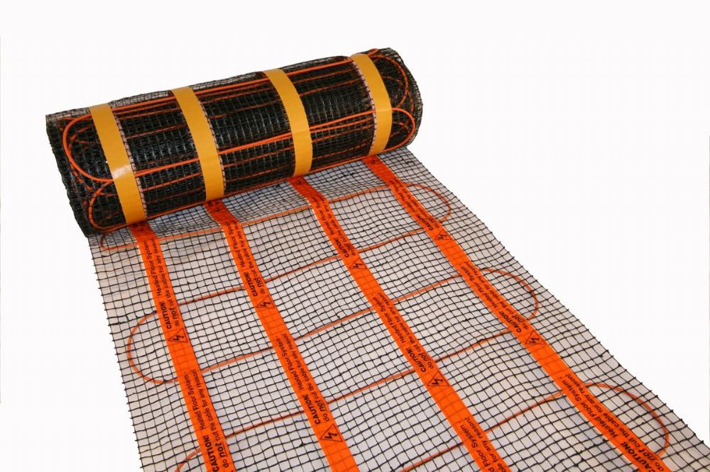 Heat Mat 110W/m<sup>2</sup> Underfloor heating mat (Well insulated rooms)